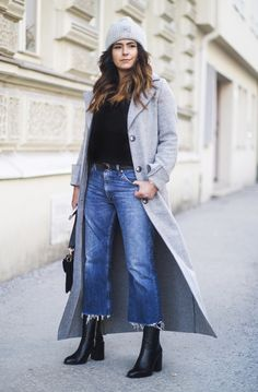 Ideas for boots outfit jeans style Outfit Jeans, Cropped Jeans Outfit, Jeans Outfit Winter, Fall Winter Outfits, Cropped Wide Leg Jeans, Cropped Pants, Summer Outfits, Mode Outfits, Jean Outfits