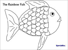 Rainbow Fish colouring for ICT (SB1732) - SparkleBox