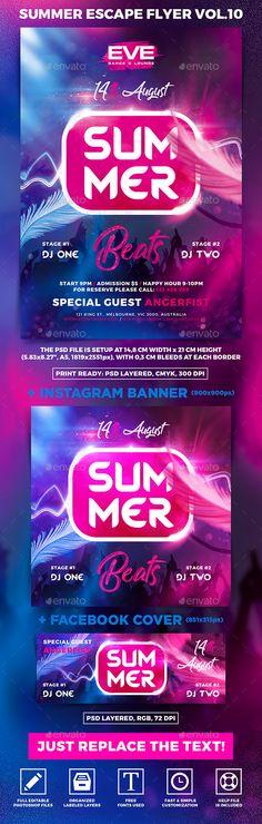 Summer Escape Party Flyer vol.10