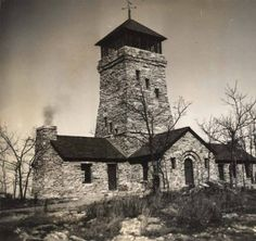 Stone tower on Mount Cheaha in the Talladega National Forest in Alabama. :: Alabama Photographs and Pictures Collection