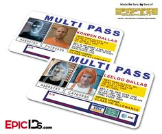"""""""Mult-eeee-pass, Mult-eeee-pass! Yeah yeah, it's a Multi pass"""" These Korban & Leeloo Dallas Multi Passes are fan made IDs created by Epic IDs inspired by the move """"The Fifth Element"""" These high resolu"""