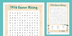 * NEW * 1916 Rising Word Search