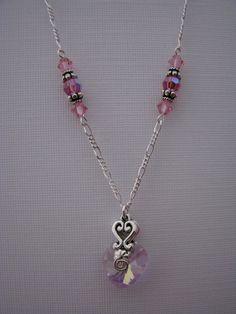Valentine Jewelry  Pink Necklace  Bead Necklace by BlueMonkeyBling, $30.00