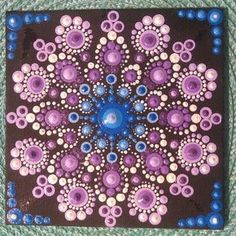 "47 Likes, 14 Comments - David Ander (@dotmandaladave) on Instagram: ""My first 12 x 12 card board canvas mandala"""