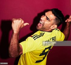 Radamel Falcao of Colombia poses for a portrait during the official FIFA World Cup 2018 portrait session at Kazan Ski Resort on June 2018 in Kazan, Russia. Carlos Valderrama, Fifa World Cup 2018, Poses, Football Soccer, Skiing, Russia, Couple Photos, June, Tumbler