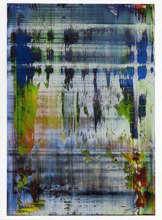 Gerhard Richter, Abstract #2, 16.5 x 12.75