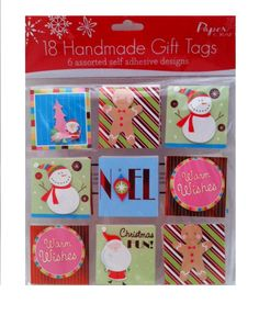 Set of 18 Handmade Git Tags of 6 Designs: Choose Nostalgic Noel or Kitch Christmas (Kitch Christmas) * You can find out more details at the link of the image.