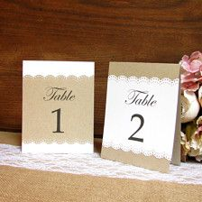 Wedding Table Numbers - Wedding Decorations - Page 22