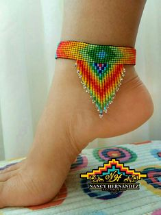 off loom beading techniques Native Beading Patterns, Beaded Earrings Patterns, Bead Loom Patterns, Bead Loom Bracelets, Ankle Bracelets, Bead Embroidery Jewelry, Beaded Embroidery, Beaded Anklets, Seed Bead Jewelry