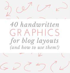 Freebie: 40 Downloadable Handwritten Graphics for Blog Layouts