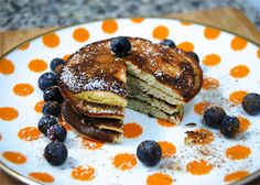 Pancakes are one of the food loves of my life. This recipe is healthier made w/coconut  flour and bananas.