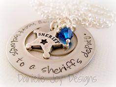 My Heart Belongs To A Sheriff Deputy by DanielleJoyDesigns on Etsy, $33.00