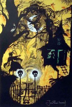 """Baba Yagas Hut"" by Jan Pienkowski"