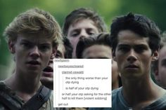 GET OUUUTTTT but no bc my maze runner otps are minewt and trenda-mostly the movie for trenda bc she's creepy in the book but the point is that U CANNOT MENTION THAT Maze Runner Funny, Maze Runner Thomas, Maze Runner The Scorch, Maze Runner Cast, Maze Runner Trilogy, Maze Runner Series, Get Out Now, The Scorch Trials, Books For Teens