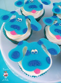 Blue's Clues cupcake toppers - but you could use the same technique for almost anything