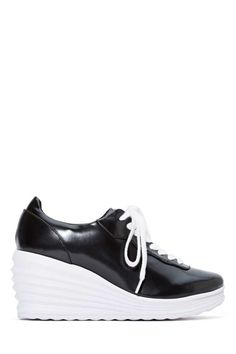 Jeffrey Campbell Inferma Leather Sneaker   Shop What's New at Nasty Gal