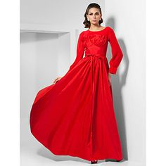 A-line Scoop Floor-length Taffeta Chiffon Evening Dress inspired by Livia Firth at Oscar – USD $ 199.99