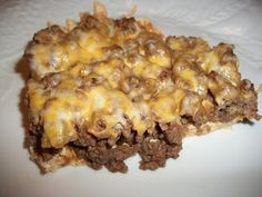 Wednesday 5-Sandy's Kitchen: Taco Bake....Cut recipe in half so it makes an 8x8 pan instead of 9x13....We really liked this!