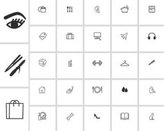 Instagram Story Highlight Icons - Set of 28 - Black / White - Instant Download