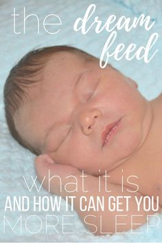 What is a dream feed and how can it help you get more sleep? Add a dream feed to your baby's schedule and help yourself get more sleep.