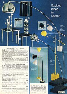 fabulous lighting/the yellow lamp Vintage Advertisements, Vintage Ads, Vintage Decor, Mcm Furniture, Vintage Furniture, Old Fashioned Love, 70s Decor, Mid Century Modern Lighting, Unique Lamps