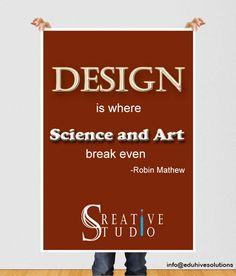 Science & Art = Design..... #design #work