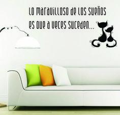 bab vinilo decorativo de pared podes enviar tu frase o texto hogar decoracion