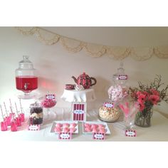 Gorgeous Kitchen tea table setting by Jacklen Daryoush from Bella Cake House. www.facebook.com/bellacakehouse