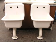 Old School Cast Iron Utility Sinks For Bathrooms.
