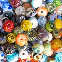 LAMPWORK 50 Orphan Grab Bag Frit Spacer Beads Lot sra by dancingfrogjewels on Etsy https://www.etsy.com/listing/98307093/lampwork-50-orphan-grab-bag-frit-spacer