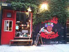 Mama's Food Shop - East Village/Alphabet City Nyc Pics, Alphabet City, City That Never Sleeps, East Village, New York City, The Neighbourhood, Christmas Ornaments, Holiday Decor, Places