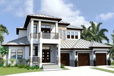 Contemporary florida style home plan