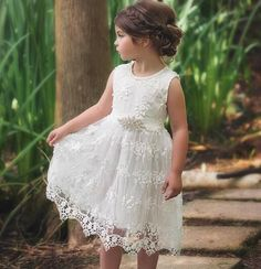 Look at this Trish Scully Child White Bella Brianna Dress - Infant, Toddler & Girls on today! Girls Lace Dress, Kids Outfits Girls, Toddler Girl Dresses, Girl Outfits, Girls Dresses, Toddler Girl Hair, Kids Girls, Party Dresses, Formal Dresses