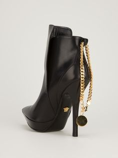 VERSACE - chain detail boot 10