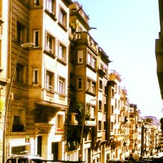 Above Via Augusta in Barcelona. Pretty and hot winter day!