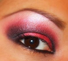 Smokey red eye makeup they don't really care about us