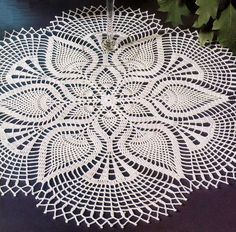 Crochet Art: Crochet Pattern of Beautiful Lace Doily Using White Cotton Thread
