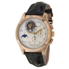 Zenith Men's Grande Class Tourbillon Watch $110,550 #Zenith #watch #watches #chronograph rose gold case with crocodile skin bracelet and automatic movement
