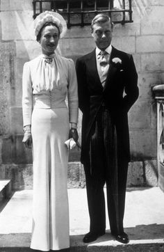 Wallis Simpson and Edward, Prince of Wales, 1937 | 41 Insanely Cool Vintage Celebrity Wedding Photos