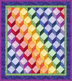 Tumbling Blocks - Price: $37.99 [Quilt in the Hoop]