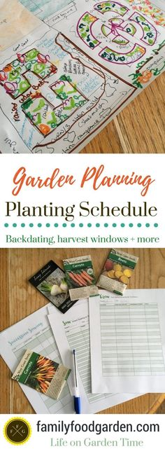 Create a Planting Schedule for Sowing & Transplanting ~Family Food Garden