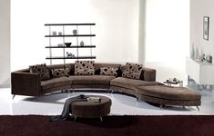 Luxury Living Room Furniture By Long Round Couch With Brown Theme . Cozy Living Rooms, Living Room Modern, Living Room Chairs, Living Room Furniture, Room Furniture Design, Sofa Furniture, Furniture Ideas, Painted Furniture, Modern Furniture