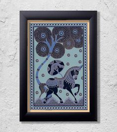 Horse Artisanal Print Rompers For Kids, Indian Interiors, Art Boards, Digital Prints, Artisan, Horses, Frame, Poster, Painting