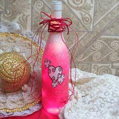 Valentine Home Decor Wine Bottle Light. $17.00, via Etsy.