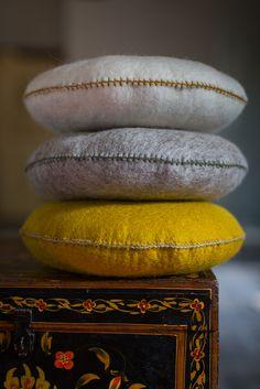 MUSKHANE Winter 16-17- Smarties #felt cushion - photo #maevadelacroix #muskhane