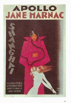 Paul Colin Poster Art Book Plate. Jane Marnac. 1930.