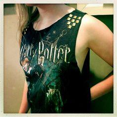 Hipster Studded Harry Potter Shirt