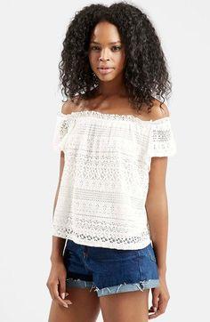 Topshop Lace Off the Shoulder