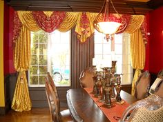 Red And Gold Curtains   Decor   Pinterest   Gold Curtains, Living Rooms And  Room