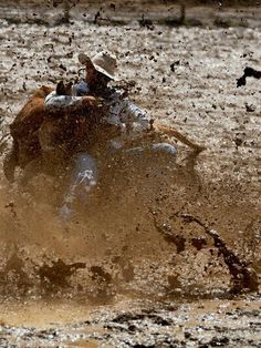 Typical rodeo....muddy